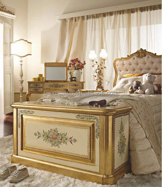 Royal Luxury French Kids Bedroom Furniture Antique Solid
