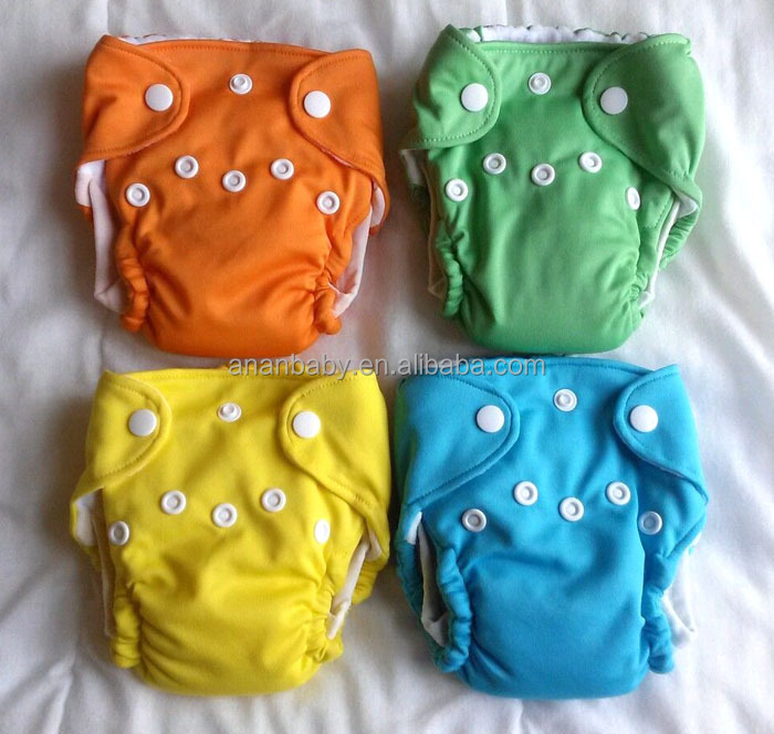 Waterproof Reusable Newborn Aio Cloth Diapers Double Leg Gussets ...
