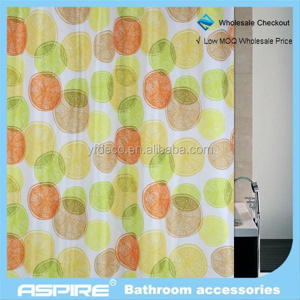 Wholesale Checkout 2014 new polyester printed shower curtain