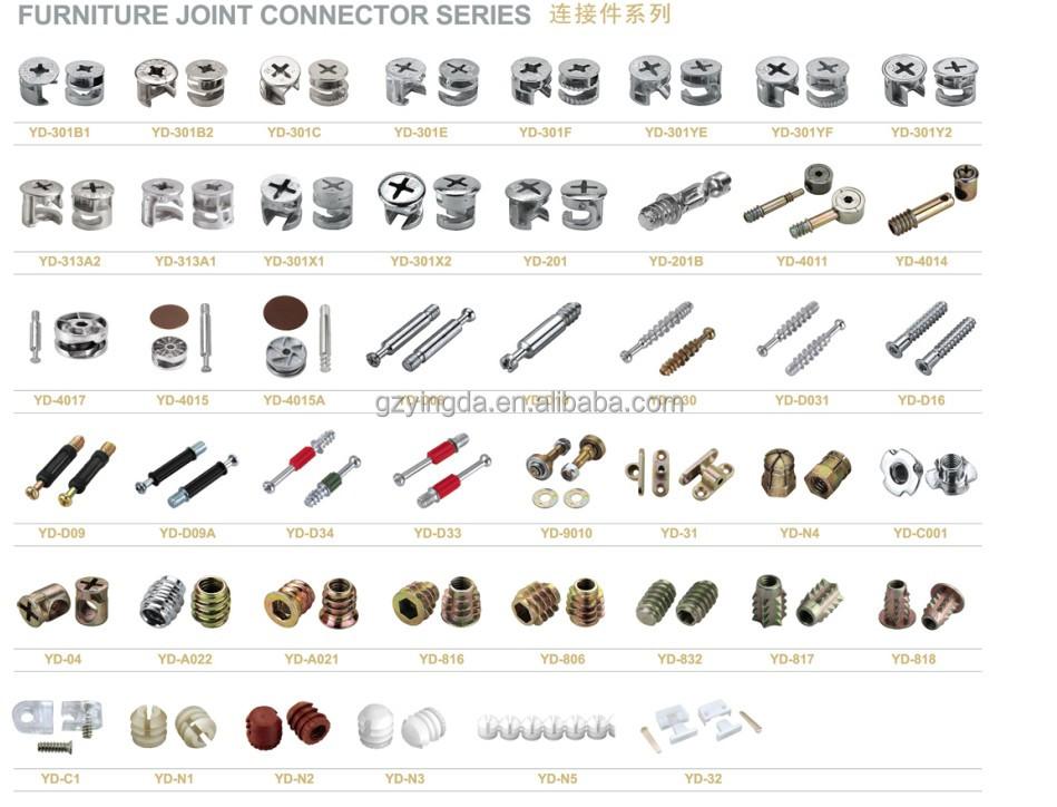 Yingda Hardware Furiture Fitting Furniture Connector Cam Lock Screws And  Fasteners