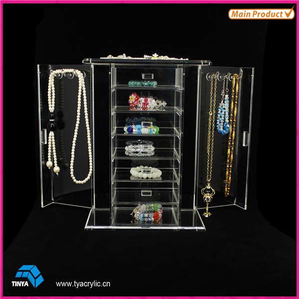 L Shape Wholesale Acrylic Earring Display Stand Earring Holder Organizer Display Racks