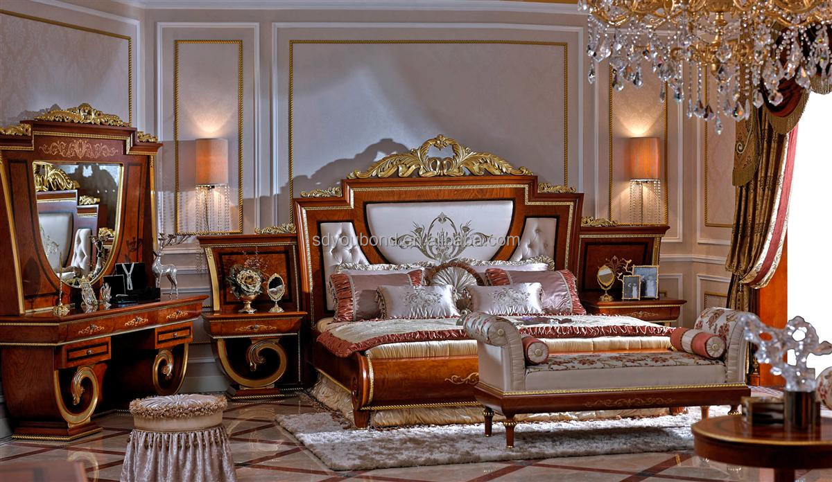 0038 European Classic Solid Wood Bedroom Furniture High