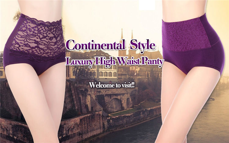 New Arrival 5130 Old Woman Underwear Embroidery Lady High Waist Underwear Lace Briefs Adult Briefs Underwear Lady Panties