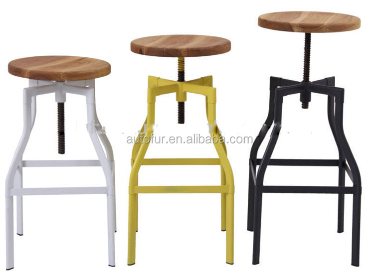 Adjustable Wooden Top High Back Kitchen Bar Stool High Chairs  sc 1 st  Alibaba & Adjustable Wooden Top High Back Kitchen Bar Stool High Chairs ... islam-shia.org