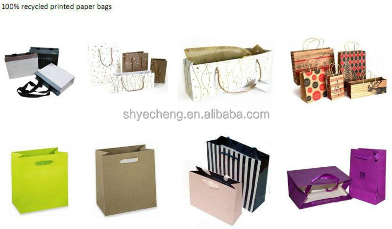 Manufacturer luxury fashion promotional decorative shopping paper gift bags with ribbon handles