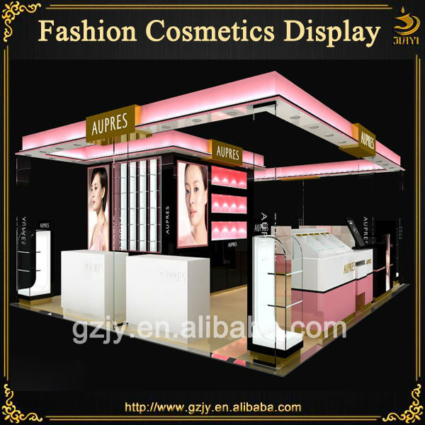 Exhibition Stand Designs For Sale : High end cosmetic display booth design with glass makeup