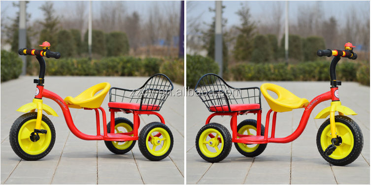 2014 hot design children tricycle two seat/baby twins tricycle