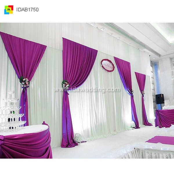 Simple wedding showing platform fancy design decor curtain for Decoration 3id milad