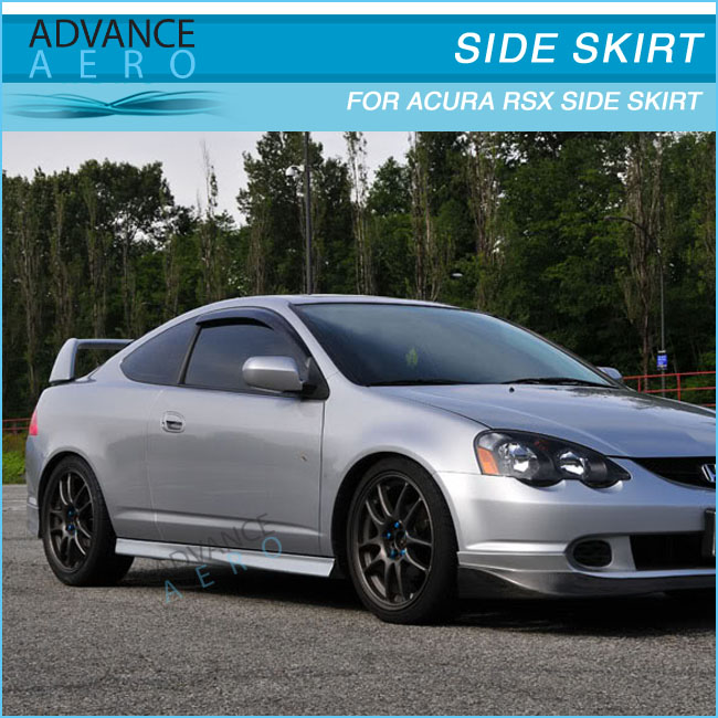 For 02- 06 Acura Rsx Dc5 T-r Style Side Skirts Skirt Black Abs ...