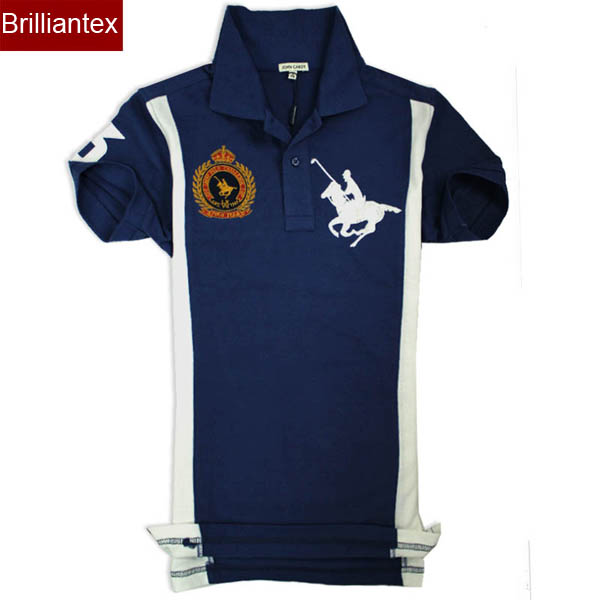 Fancy brazil style embroidered logo pique polo shirt for for Polo shirts custom logo embroidered