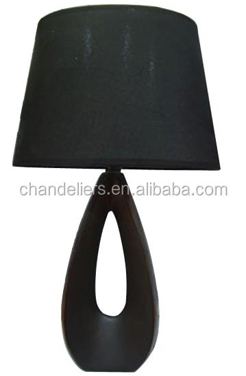 Black Teardrop-shaped Ceramic Lamp Base,Bedroom Bedside Lamp ...