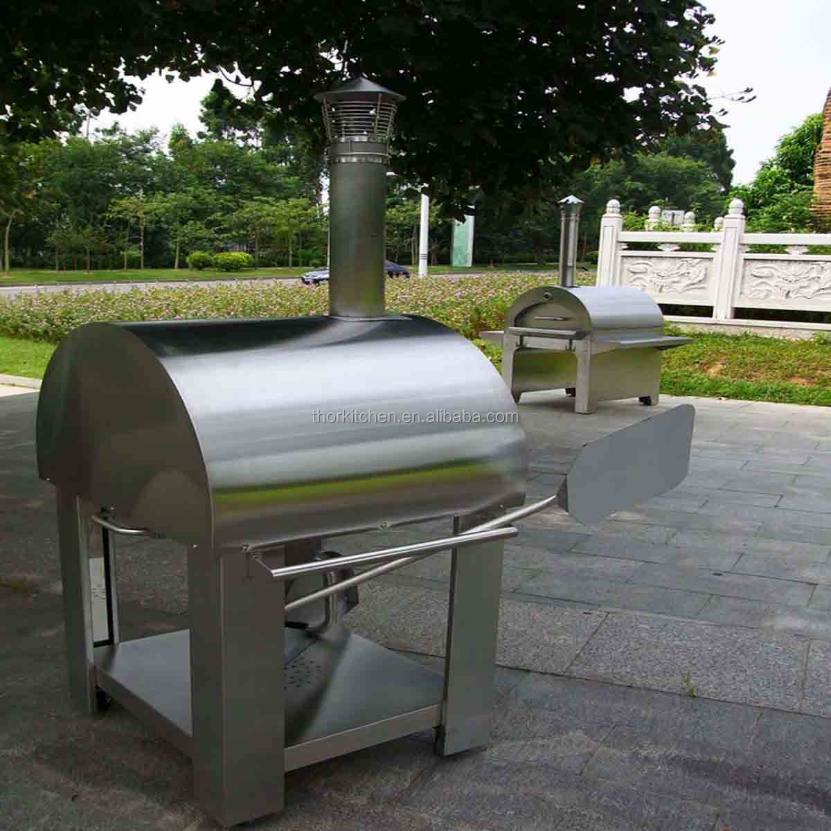 Full Stainless Steel Outdoor Oem Wood Stone Pizza Oven