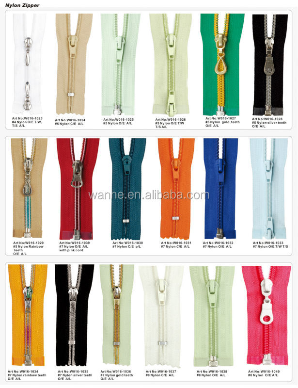 Long Chain Nylon Zipper