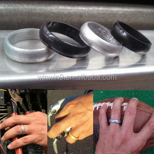 custom embossed silicone rubber wedding rings kids ring rubber