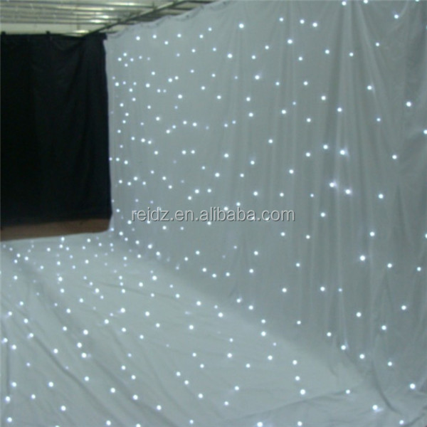 Wedding stage background led star curtain fabric light up for Star curtain fabric