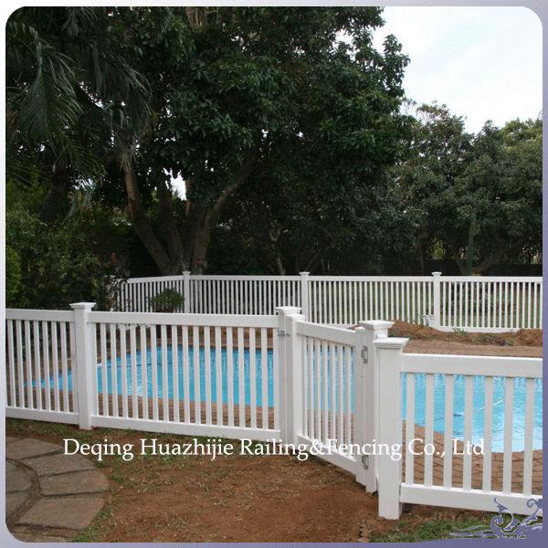 Plastic used vinyl pool fence decorative garden fence for Plexiglass pool fence