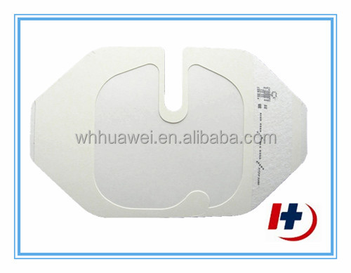 Surgical wound care type transparent i.v. cannula dressing with U port