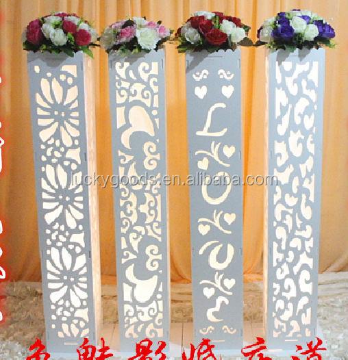 Palco Do Casamento Pilares Decorativos PVC Para Venda