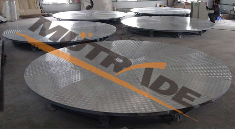 Revolving parking platform rotating car turntable for for Table header rotate th rotate 45
