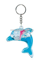 Fancy Liquid Dophin Shape Key Ring With Floater,Acrylic Keychain ...