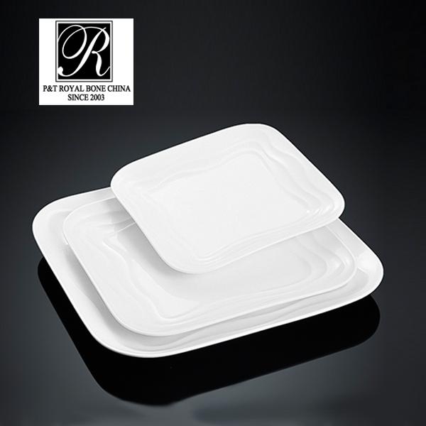 hotel ocean line fashion elegance white porcelain oval soup bowl