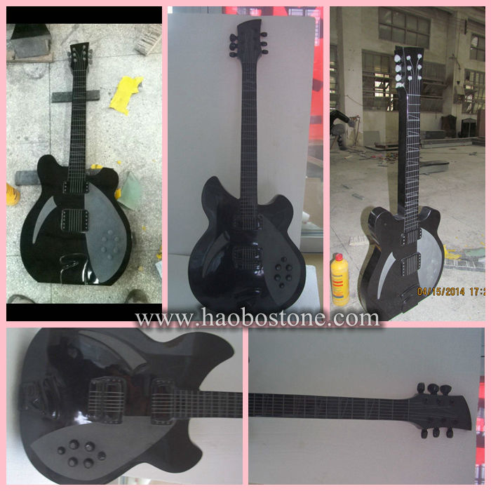 Shanxi Black Granite Guitar Headstones Monuments Buy