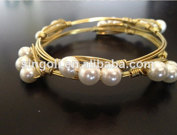 Natural stone Crystals Bangle Set large stone brass wire wrapped ...