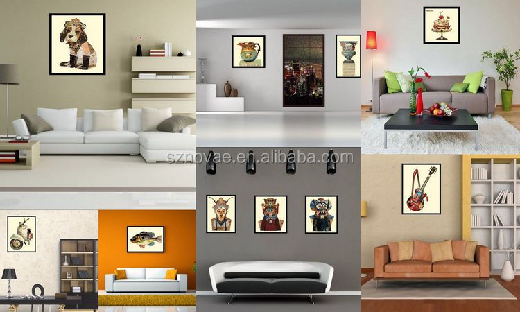Dog Wall Decor pe002 dog wall art collage paper decor animal oil painting for