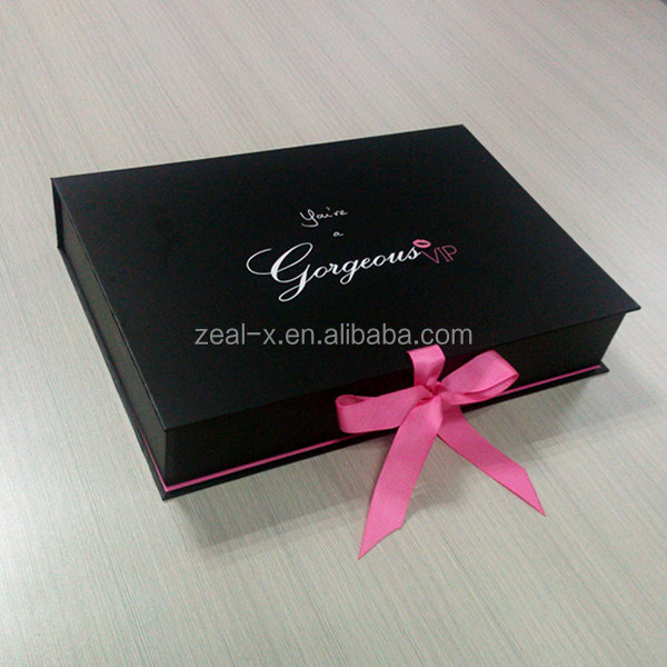 Red Printing Logo Embossing Decorative Hat Apparel Boxes With Lids