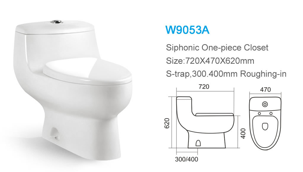 Turbo Bathroom Ceramic One-piece Floor Installation Type Cheap W.c KW58
