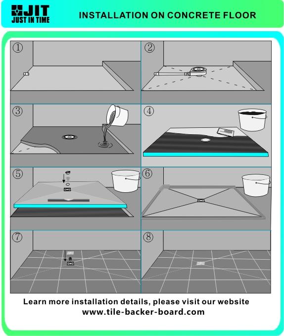 Fibergl Tile Ready Shower Base Corner Tray