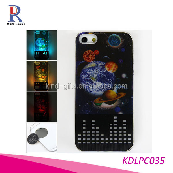 Skeleton Scary Skull Gothic Illusion Case Cover - With 3D Flash Visual Colour Changing Call Indicator LED Light (Pirate)