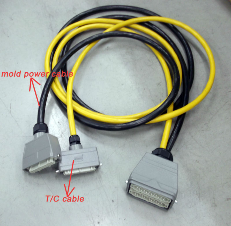 Molded Connectors With Thermocouple Extension Cables : Tinko j type thermocouple cable for plastic injection mold