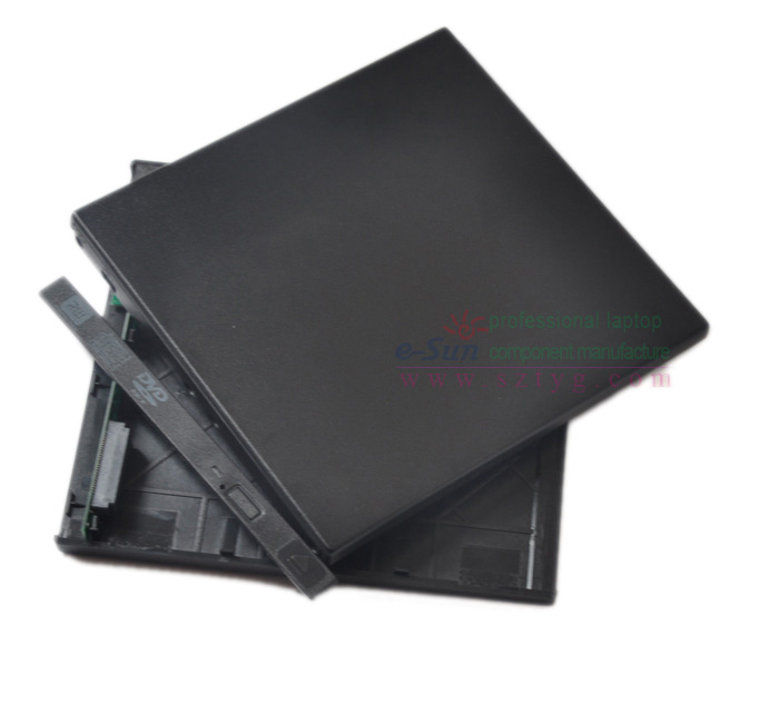 Factory direct sales 9.5mm Portable USB2.0 SATA spare parts External DVD Drive