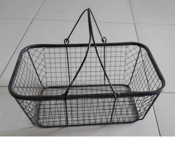 Metal Wire Storage Baskets With Liners Mesh Baskets Cheap Wire Basket