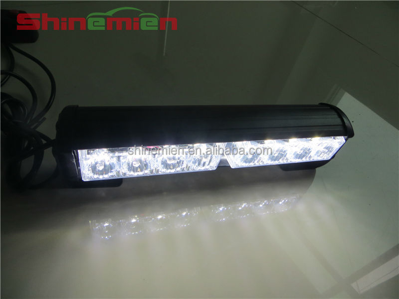 8 Led Car Roof Grill Aux Decorative Headlamp Green/white Warning ...