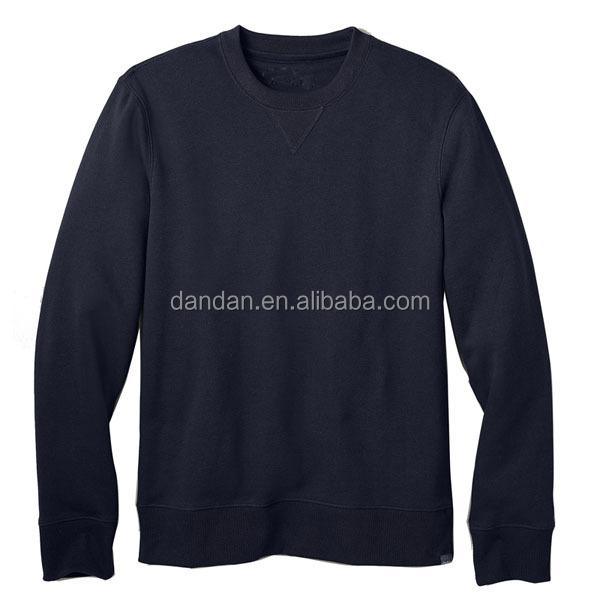 Crew Neck Navy Fleece Sweater Without Hoodie - Buy Custom Crew ...