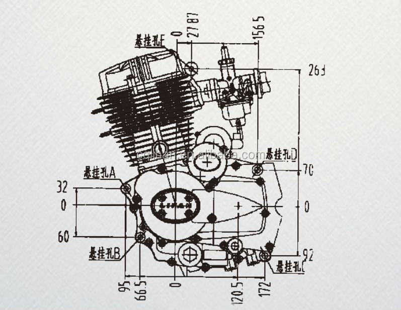 200cc lifan engine for tricycle parts