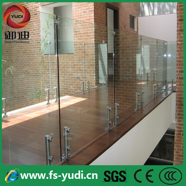 Frosted Glass Aluminum Railings For Exterior Rooftop