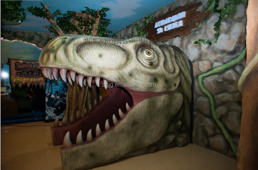 Jurassic theme park decorations animatronic dinosaur door for Amusement park decoration ideas