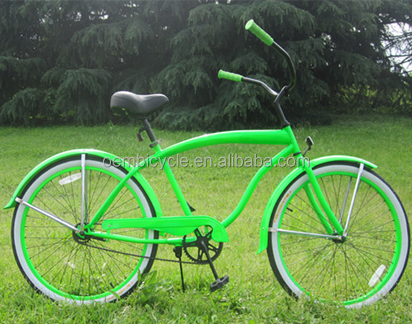 26 inch green color beach cruiser bike chopper bicycles