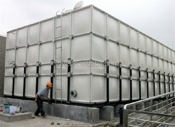how to set up a water storage tank