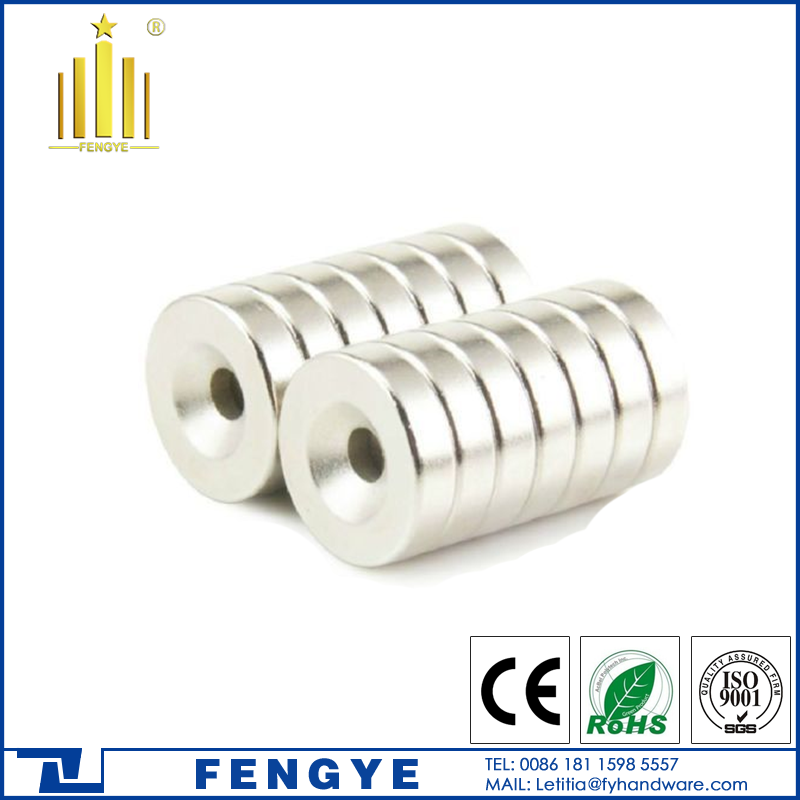 China Manufacturer N52 Neodymium Round Magnets with <strong>Holes</strong>