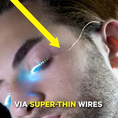 2017 Wholesale False Fun Interactive LED Fake Eyelashes lashes turn your face into a rave party