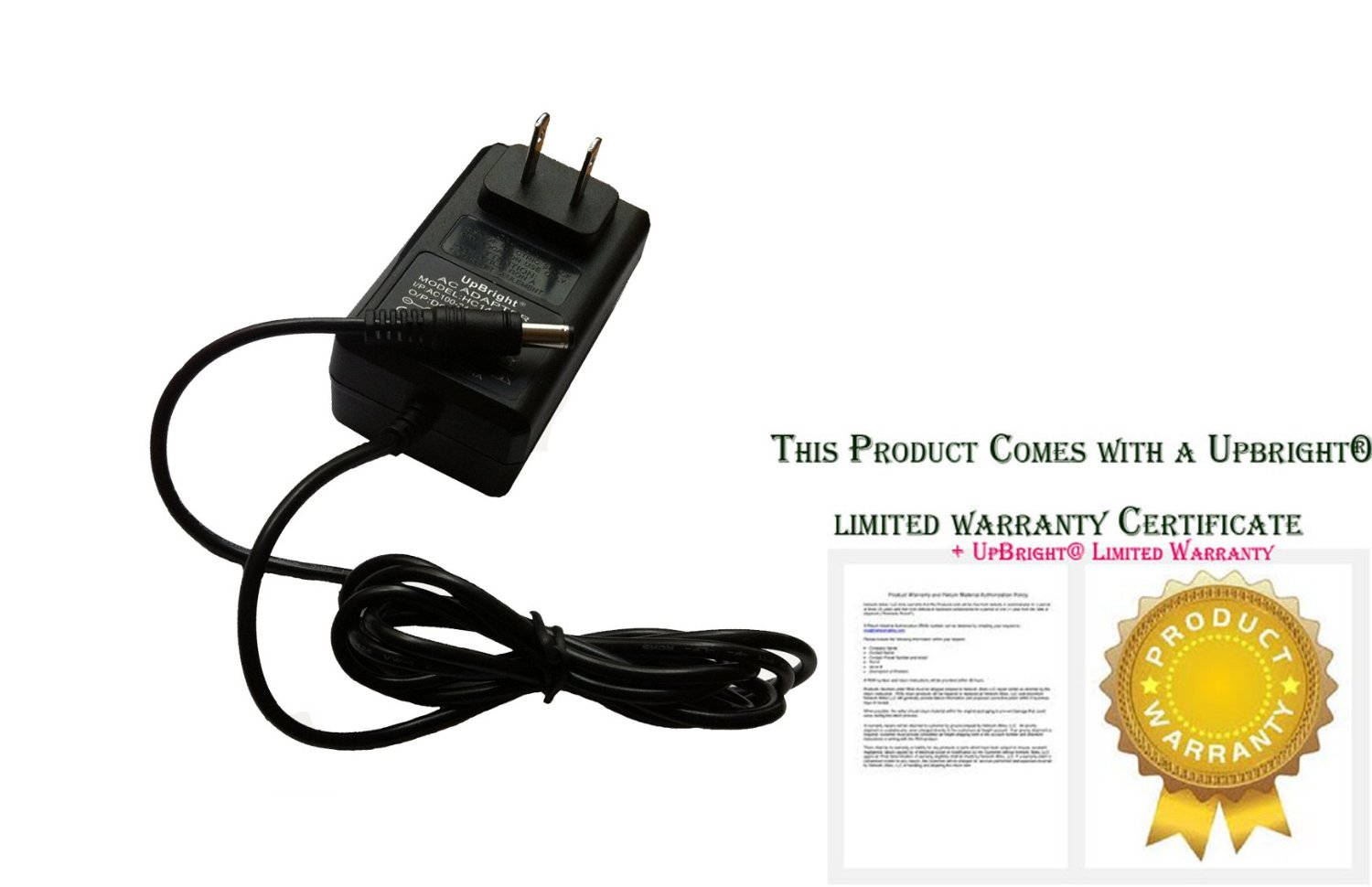 UpBright NEW Global 12V AC / DC Adapter For Toshiba SD-P1000 SD-P1200 SDP1000 SDP1200 Portable DVD Player 12VDC Power Supply Cord Cable Charger Mains PSU Input: 100V - 120V AC - 240 VAC 50/60Hz Worldwide Voltage Use Mains PSU (with Barrel Round Plug Tip. NOT 15V 2-Prong Connector. Please Check For