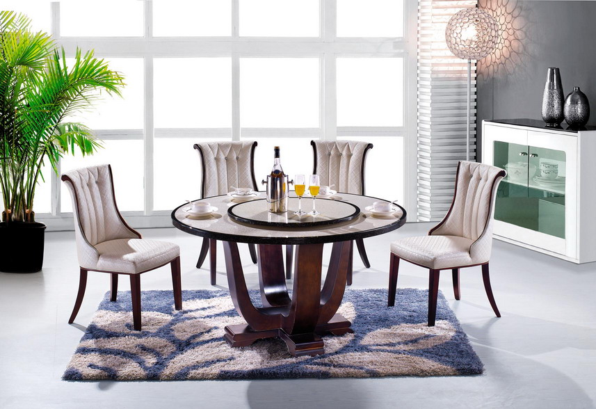 Foshan Modern Cheap Wooden Rotating Dining Table Sale
