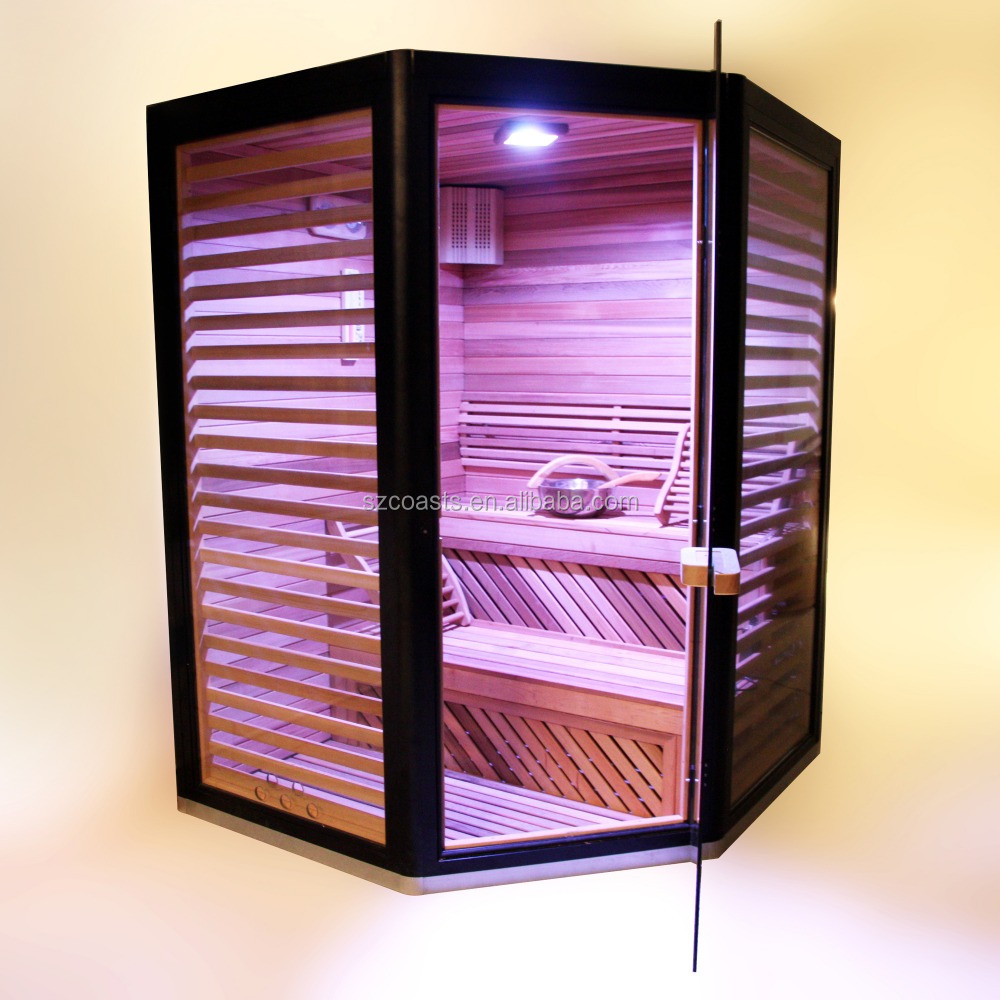 Alumium frame glass walls steam and sauna room