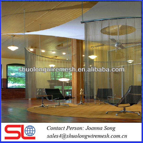 2013good quality decorative metal mesh,hanging room divider screen,chain curtain