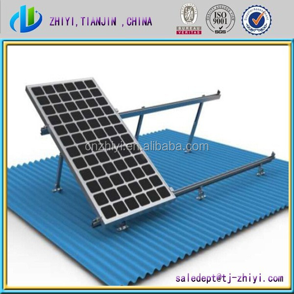adjustable solar mounting bracket solar kit for solar power system ground screw pile solar panel bracket