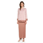 Modern fashion design islamic round neckline dress muslim clothing malaysia baju kurung